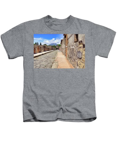Mount Vesuvius And The Ruins Of Pompeii Italy Kids T-Shirt
