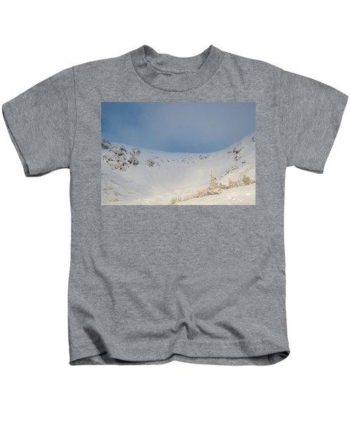 Mountain Light, Tuckerman Ravine Kids T-Shirt