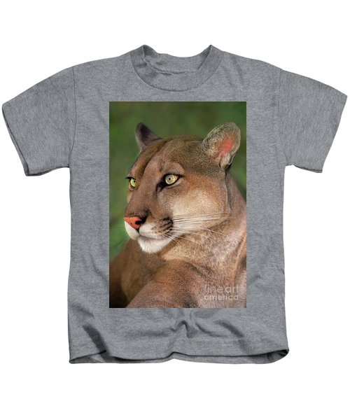 Mountain Lion Portrait Wildlife Rescue Kids T-Shirt