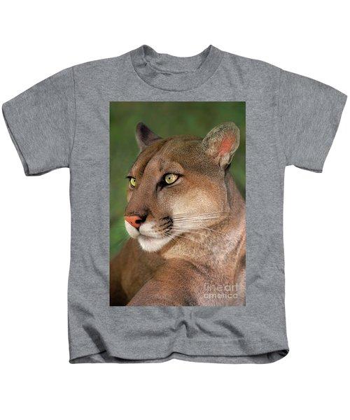 Mountain Lion Portrait Wildlife Rescue Kids T-Shirt