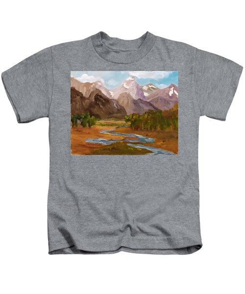 Spring In The Tetons Kids T-Shirt