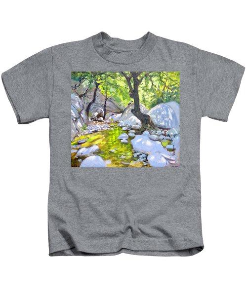 Mountain Stream, Lefkas, Greece Kids T-Shirt
