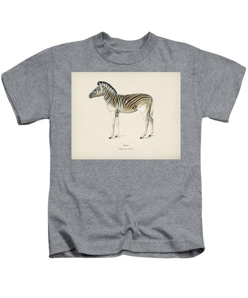 Mountain Zebra  Dauw  Illustrated By Charles Dessalines D' Orbigny  1806-1876 2 Kids T-Shirt