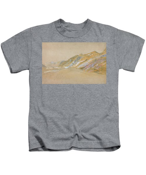 Mountains By The Traveller's Rest Near Dolgelly - Digital Remastered Edition Kids T-Shirt