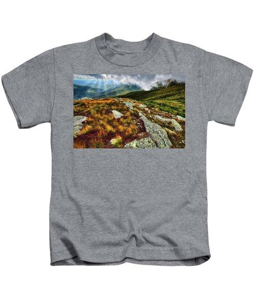 Mt. Washington Nh, Autumn Rays Kids T-Shirt