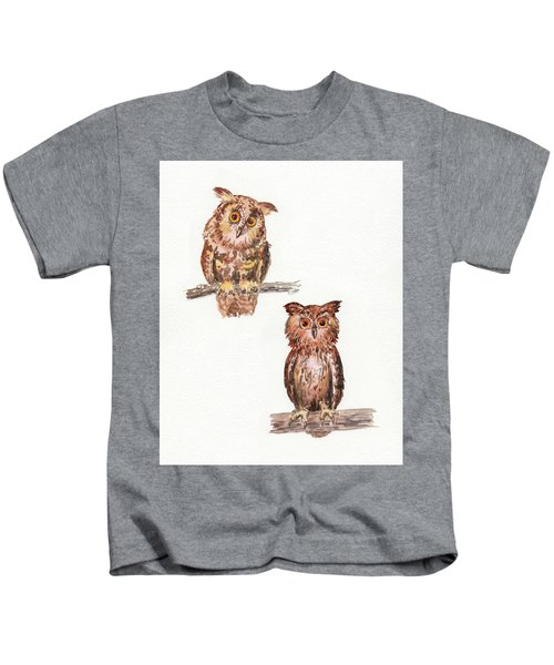 My Branch Is Higher Watercolor Owls Kids T-Shirt