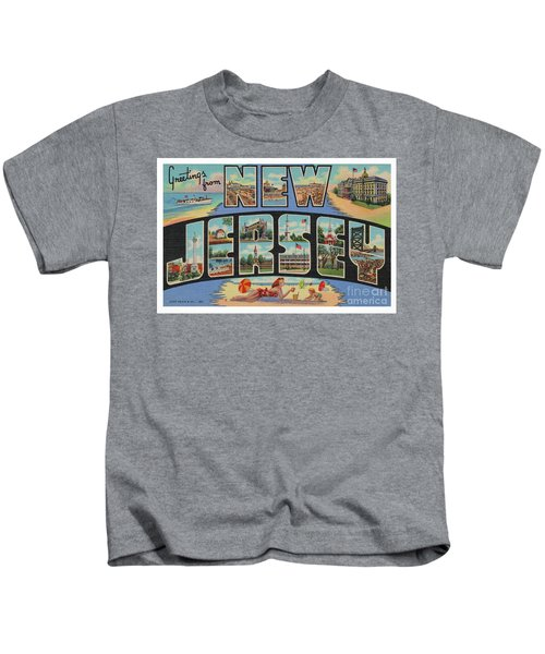 New Jersey Greetings - Version 1 Kids T-Shirt