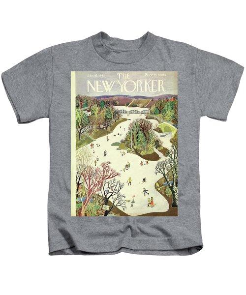 New Yorker January 16th 1943 Kids T-Shirt