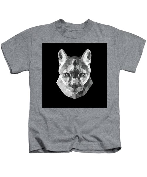 Night Mountain Lion Kids T-Shirt