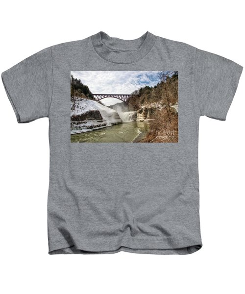 Winter At Letchworth State Park Kids T-Shirt