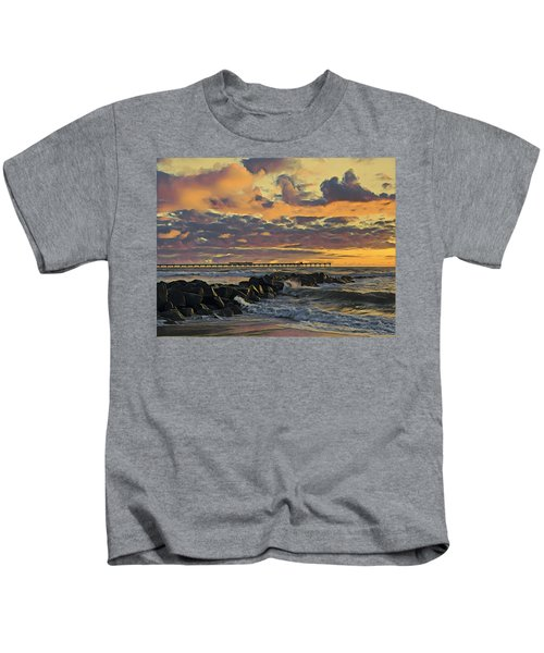 Ob Sunset No. 3 Kids T-Shirt
