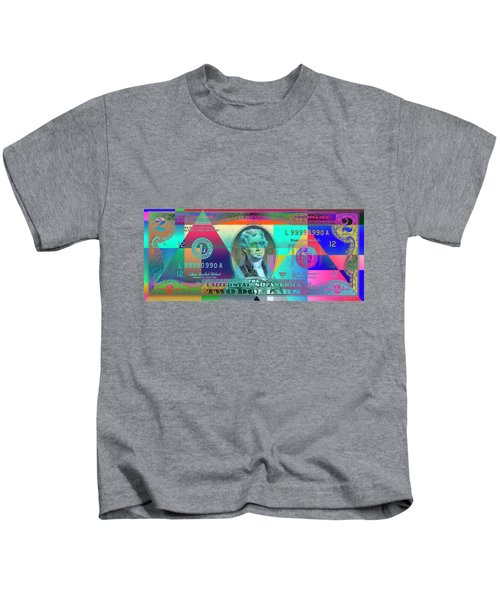 Obverse Of A Colorized Two U. S. Dollar Bill  Kids T-Shirt