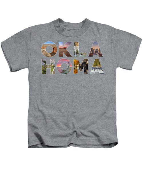Oklahoma Typography II Kids T-Shirt