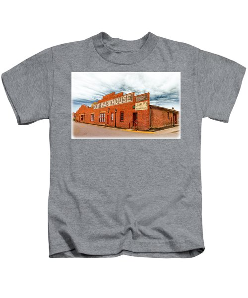 Old Warehouse In Farmville Virginia Kids T-Shirt