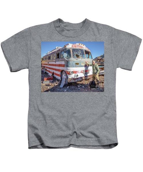 On Location Photographer Edward Fielding In Jerome Arizona Kids T-Shirt