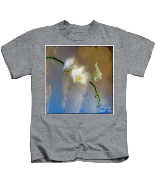 Orchid With Clouds Kids T-Shirt