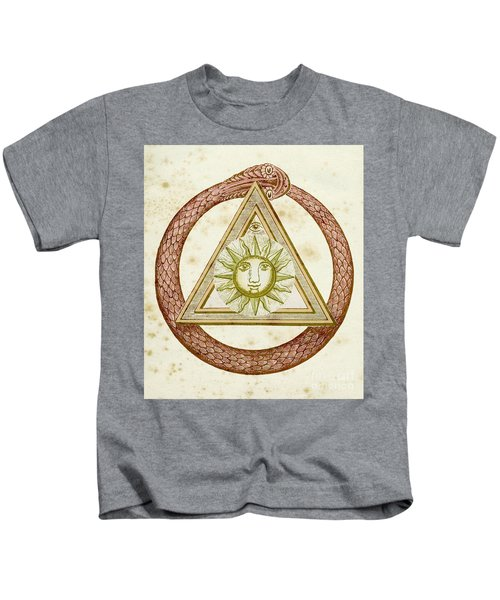 Ouroboros, Delta, And The Divine Eye With The Sun, From The Kneph Kids T-Shirt