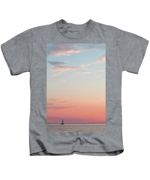 Outer Banks Sailboat Sunset Kids T-Shirt