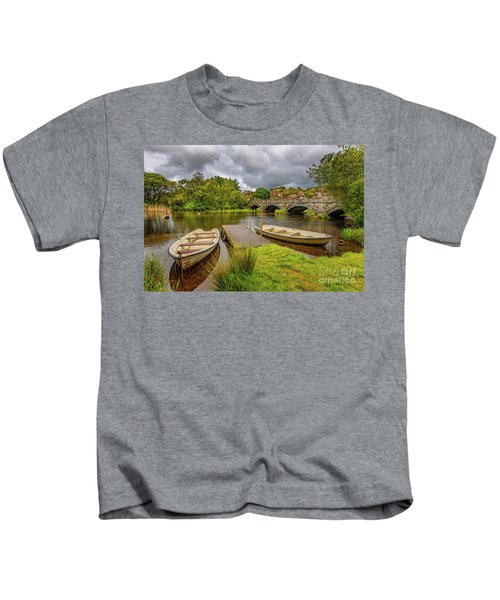 Padarn Lake Bridge Llanberis Kids T-Shirt