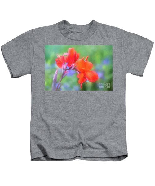 Painted Canna In The Evening Light Kids T-Shirt