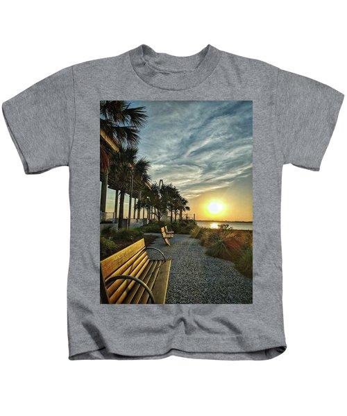 Palm Tree Sunset Kids T-Shirt