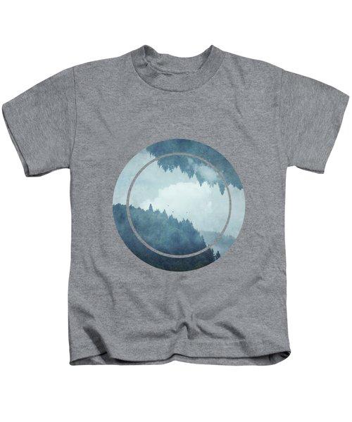 Passing Days - Misty Blue Mountains Kids T-Shirt