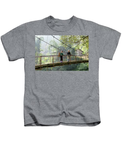 People And Children From Sapa, Mountainous Area Of Northern Vietnam In Their Daily Life. Kids T-Shirt