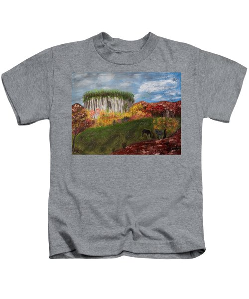 Pilot Mountain Kids T-Shirt