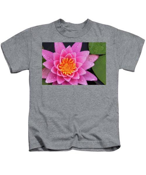 Pink Petals In The Rain  Kids T-Shirt