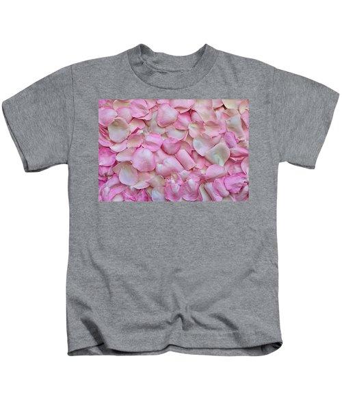 Pink Rose Petals Kids T-Shirt