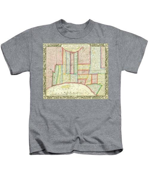 Plan Of Philadelphia, 1860 Kids T-Shirt