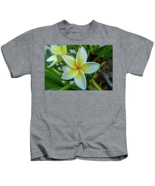 Plumeria In Bloom Kids T-Shirt