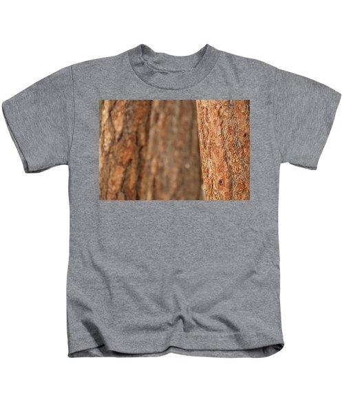 Ponderosa Pine Bark Detail Kids T-Shirt
