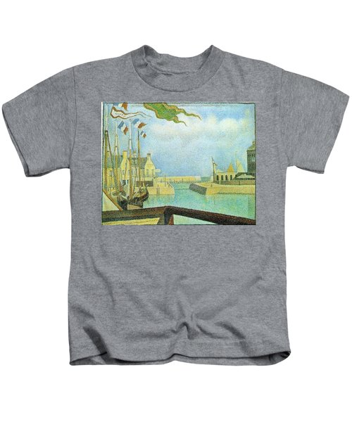 Port-en-bassin - Sunday 1888 Kids T-Shirt
