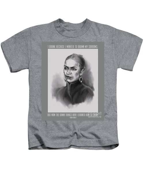 Portrait Of Frida Kahlo Kids T-Shirt