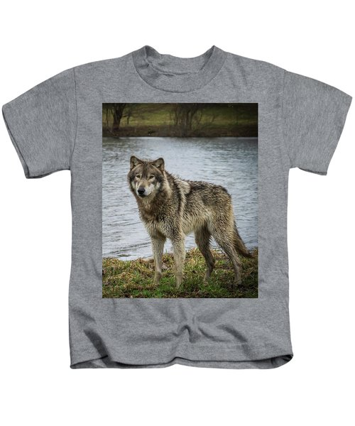 Posing By The Water Kids T-Shirt