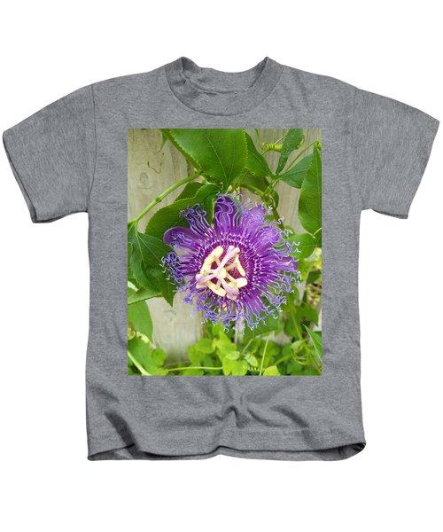Purple Passionflower Kids T-Shirt