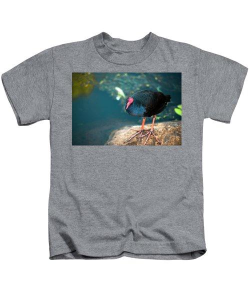 Purple Swamphenn Kids T-Shirt