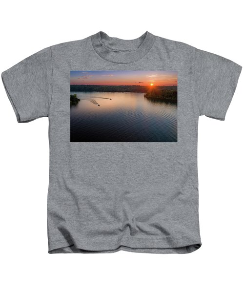 Racing The Sun Kids T-Shirt
