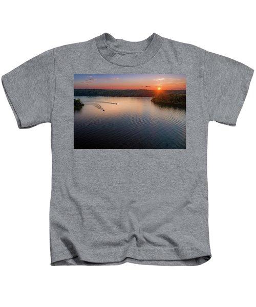 Racing The Sun Kids T-Shirt