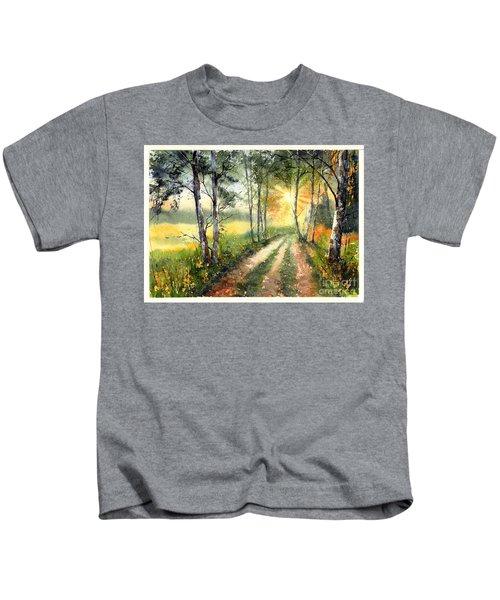 Radiant Sun On The Autumn Sky Kids T-Shirt