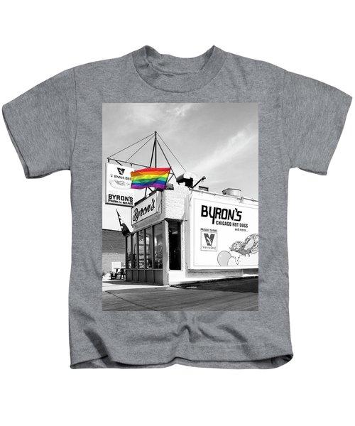 Rainbow Dog Byrons Hot Dogs Kids T-Shirt