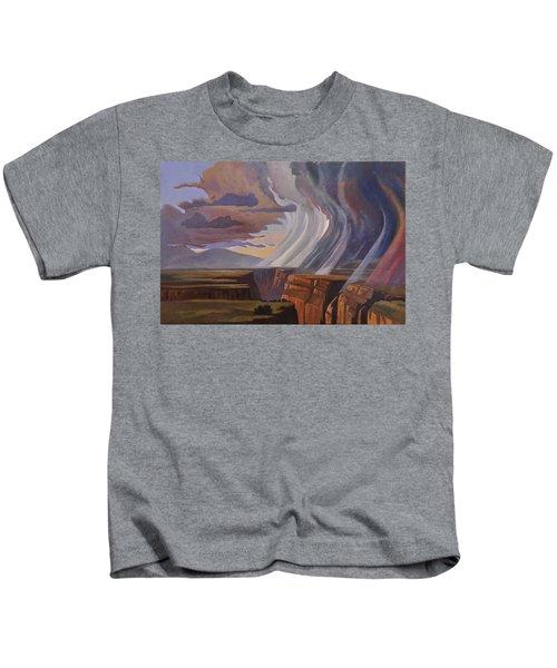 Rainbow Of Rain Kids T-Shirt