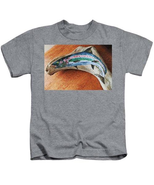 Rainbow Trout #1 Kids T-Shirt