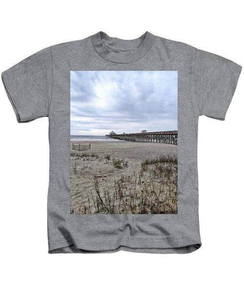 Rainy Beach Day Kids T-Shirt