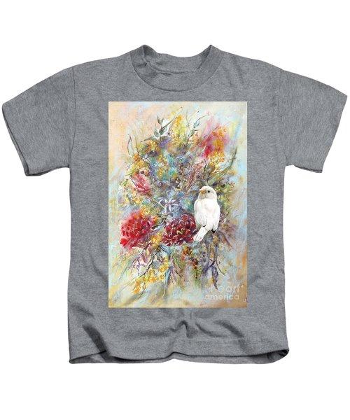 Rare White Sparrow - Portrait View. Kids T-Shirt