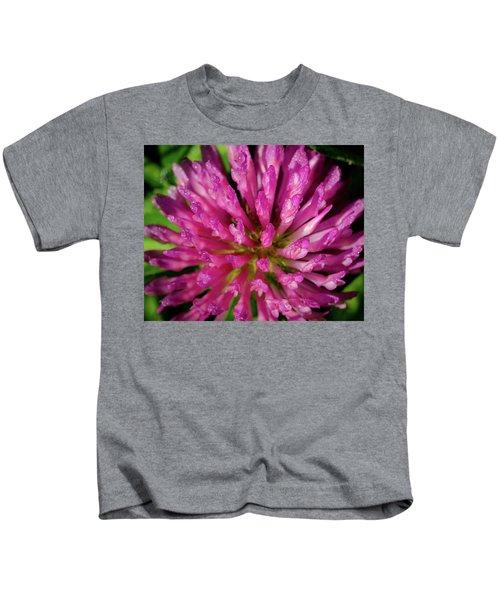 Red Clover Flower Kids T-Shirt