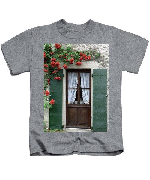 Red Rose Door Kids T-Shirt