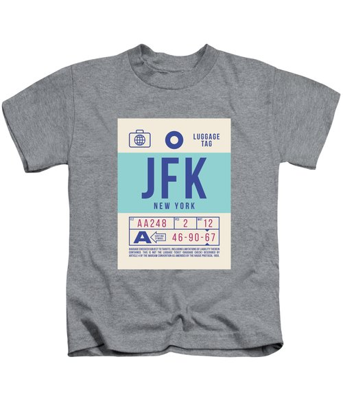 Retro Airline Luggage Tag 2.0 - Jfk New York United States Kids T-Shirt