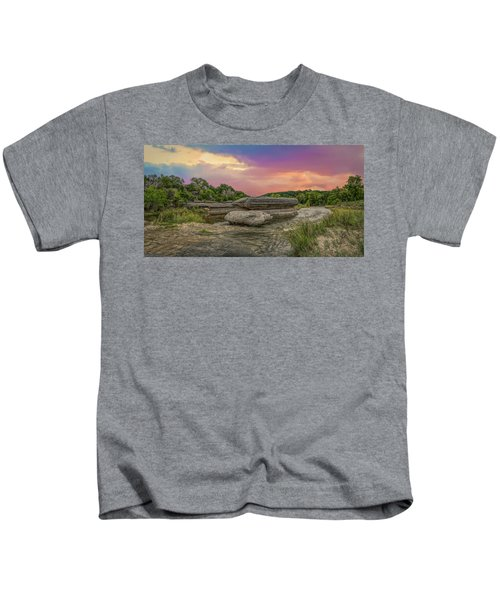 River Erosion At Sunset Kids T-Shirt